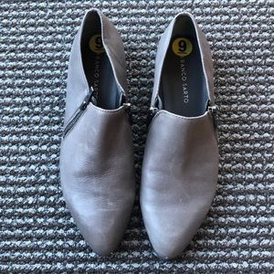 Gray Franco Sarto Loafers w/ Zippers